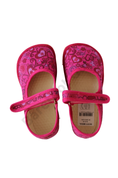 Beda Barefoot papucs pink szívecskék