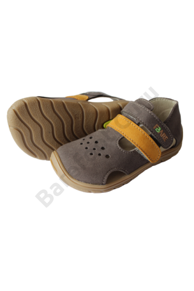 Fare Bare_barefoot szandál Grey/Mustard