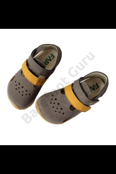 Fare Bare - Barefoot szandál - Grey/Mustard